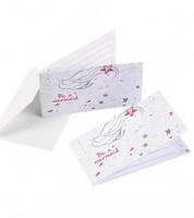 """Einladungskarten """"Blonde Meerjungfrau"""" - 8 Stück"""