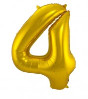 "SuperShape Folienballon ""4"" - gold"