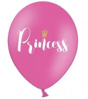 "Luftballons ""Princess"" - hot pink - 6 Stück"