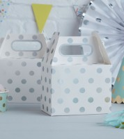 "Lunchboxen ""Pick and Mix"" - Polka Dot - silber - 5 Stück"