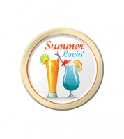 """Kleine Pappteller """"Cocktails"""" - Summer Lovin' - 8 Stück"""