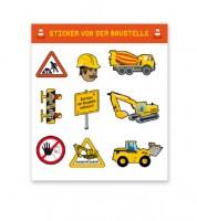 """Sticker """"Baustelle"""" - 1 Bogen"""