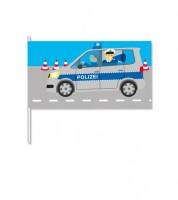 """Papierflaggen """"Polizei"""" - 8 Stück"""