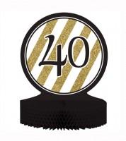 """Aufsteller """"Black & Gold - 40. Geburtstag"""""""