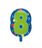 "Zahlen-Folienballon ""8"" - 56 cm"