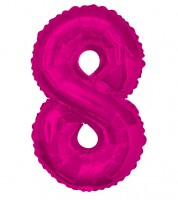 "Supershape-Folienballon ""8"" - pink"