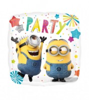 "Eckiger Folienballon ""Minions Ballon-Party"""