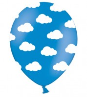 "Luftballons ""Wolken"" - mittelblau - 6 Stück"