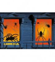"""Fensterbilder """"Spinnennetze"""" - 85 cm x 1,65 m - 2-teilig"""