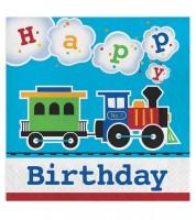 """Servietten """"Alle einsteigen"""" - Happy Birthday - 16 Stück"""
