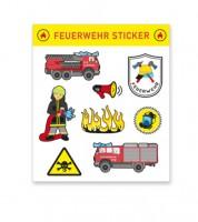 """Sticker-Set """"Feuerwehr"""" - 8 Stück"""