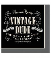 """Servietten """"Vintage Dude"""" - 16 Stück"""