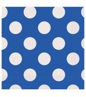 "Servietten ""Big Dots"" - königsblau - 16 Stück"