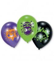 "Luftballon-Set ""Halloween"" - lila/schwarz/grün - 6 Stück"