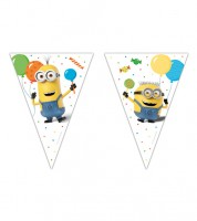 "Wimpelgirlande ""Minions Ballon-Party"" - 2,3 m"