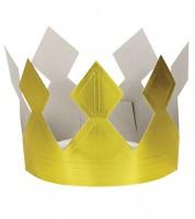 Geburtstagskrone aus Pappe - gold