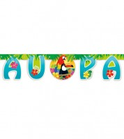 "Schriftzug-Girlande ""Tropical Island"" - LUAU PARTY - 1,65 m"