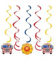 """Spiralgirlanden """"Feuerwehrauto"""" - 5 Stück"""