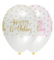 "Luftballon-Set ""Rosa Party"" - Happy Birthday - 6 Stück"