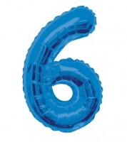 "Supershape-Folienballon ""6"" - dunkelblau"