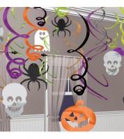 """Großes Spiralgirlanden-Set """"Happy Halloween"""" - 30-teilig"""