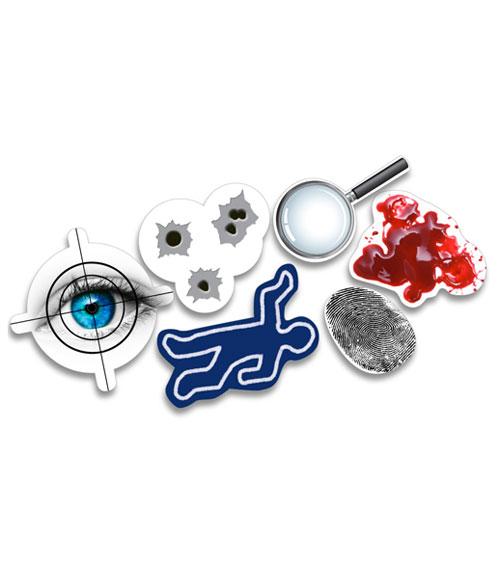 xxl konfetti detektive 24 st ck pink dots partystore. Black Bedroom Furniture Sets. Home Design Ideas