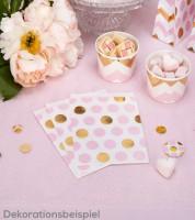 """Süßigkeitentüten """"Rosa & Gold""""  - Punkte - 25 Stück"""