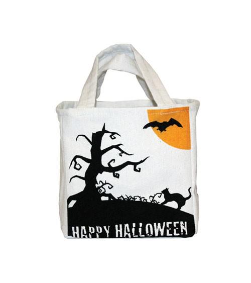 """Leinentasche """"Happy Halloween"""" - 26 x 16 cm"""