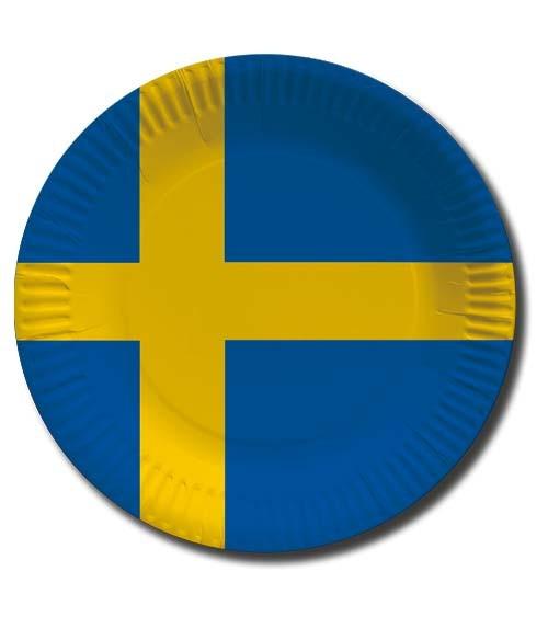 """Pappteller """"Schweden"""" - 10 Stück"""