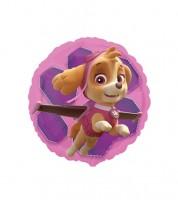 "Runder Folienballon ""Paw Patrol Pink"""