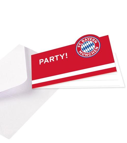 """Einladungskarten """"FC Bayern München"""" - 8 Stück"""