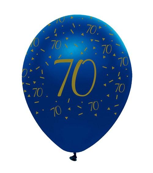 "Luftballons ""Geo Navy"" - 70. Geburtstag - 6 Stück"