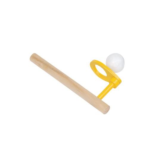 Schwebender Ball mit Holzrohr - 15 cm