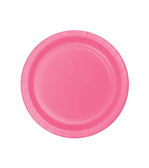 Kleine Pappteller - candy pink - 24 Stück