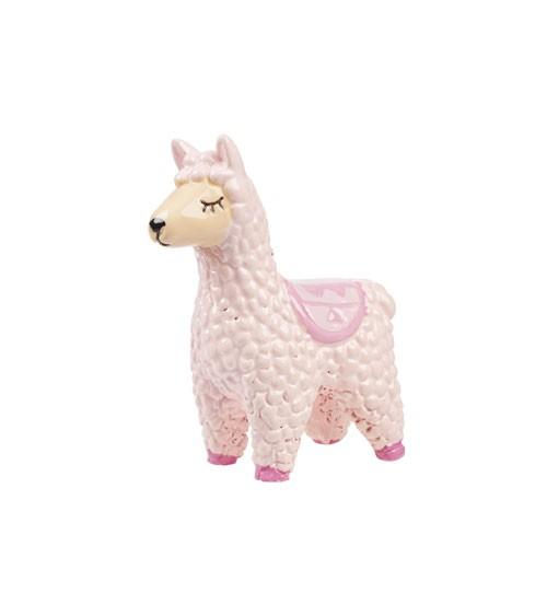 Deko-Lama aus Polyresin - rosa - 6,5 cm