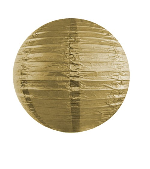 Papierlampion - gold - 25 cm