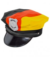 """Polizeimütze """"Deutschland"""" - schwarz/rot/gold"""