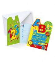 """Einladungskarten """"Schulanfang"""" - 6 Stück"""