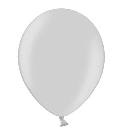 Metallic-Luftballons - silber - 10 Stück