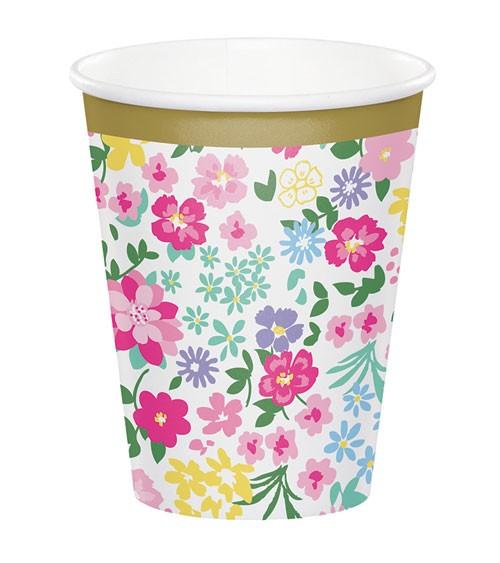 """Pappbecher """"Floral Tea Party"""" - 8 Stück"""