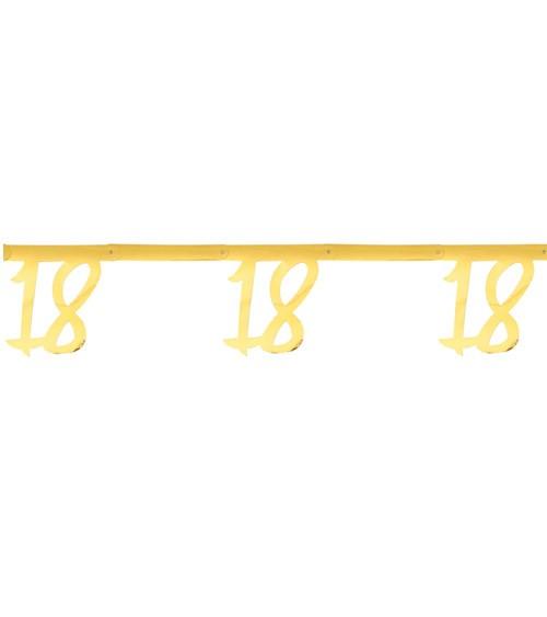 """Zahlengirlande aus Papier """"18"""" - metallic gold - 2,5 m"""