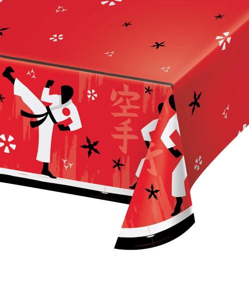 """Papier-Tischdecke """"Karate"""" - 137 x 259 cm"""