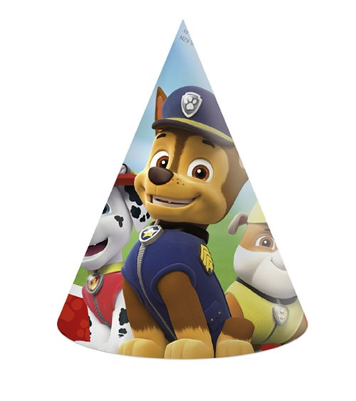 """Partyhüte """"Paw Patrol - Ready for Action"""" - 6 Stück"""