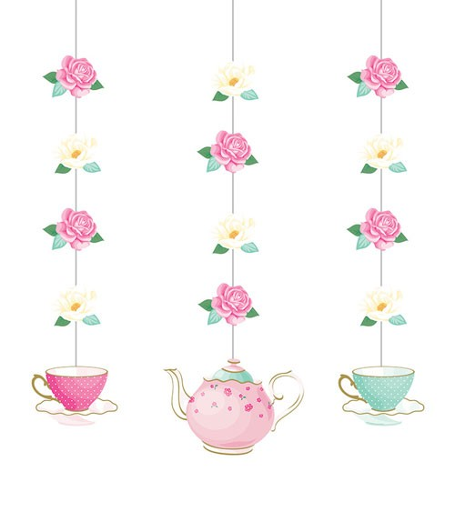 "3er-Motivgirlande ""Floral Tea Party"""