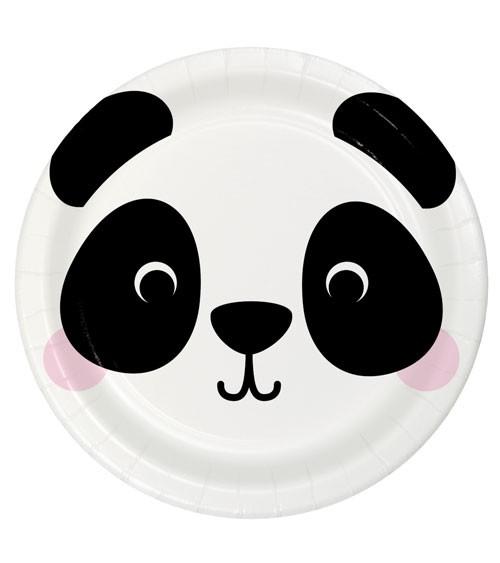 "Pappteller ""Animal Faces"" - Panda - 8 Stück"