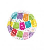 """Kleine Pappteller """"Mexican Fiesta""""  8 Stück"""