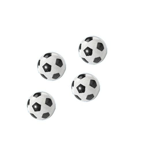 "Streuteile ""Fußball"" - 10 mm - 4 Stück"