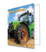 "Einladungskarten ""Traktor"" - 8 Stück"