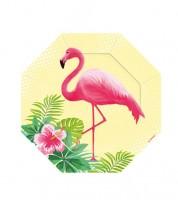 """Kleine achteckige Pappteller """"Flamingo Paradise"""" - 8 Stück"""