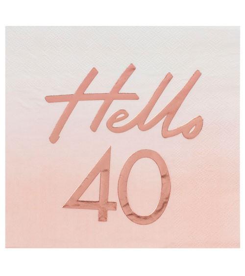 """Servietten """"Mix it up"""" - Hello 40 - ombre rosa, rosegold - 16 Stück"""